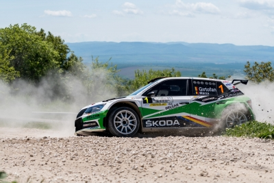 The leader in the Balkan Rally Trophy sent entry